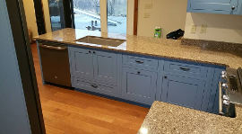 Blue Kitchen Cabinets view 2
