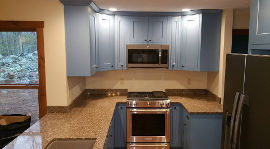 Blue Kitchen Cabinets view 3