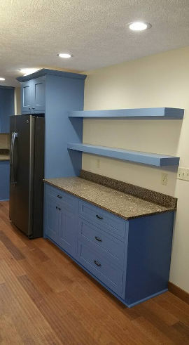 Blue Kitchen Cabinets view 4
