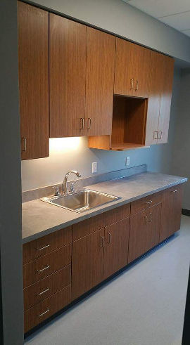 Wood commercial cabinets