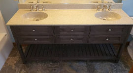 Stained double vanity
